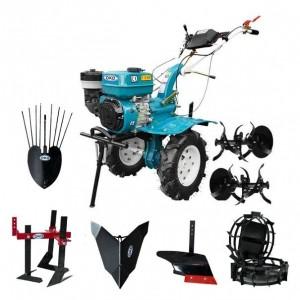 Motocultor Hs 1000B+Roti Metalice+Plug Arat+Prasitoare+Rarita Fixa+Plug Cartofi